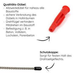 Gardeli Edelstahl-Seil und Allzweckdübel