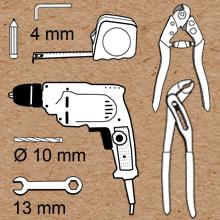 Montage GARDELI Seilsystem die benötigten Werkzeuge