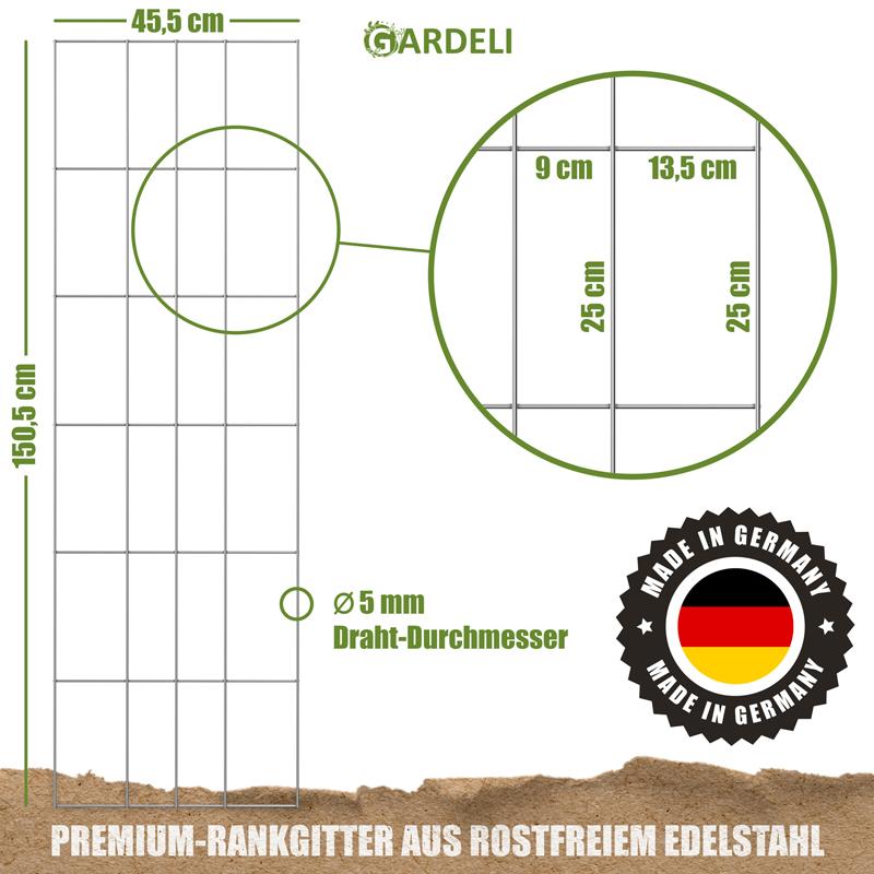 Rankgitter Edelstahl von GARDELI
