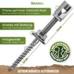 Wandhalter für GARDELI Rankgitter